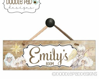 Nursery Door Sign, Kids Door Decor, Personalized Children's Wall Art