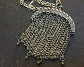 Antique Chainmaille Mesh Tiny Purse necklace
