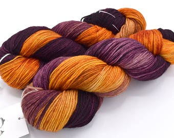 Blood Orange Variegated Hand Dyed Yarn - Made to Order