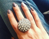 Rhinestone statement ring