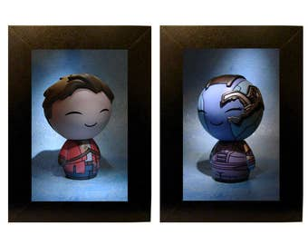 "Framed Guardians of the Galaxy Toy Photographs 4"" x 6"""