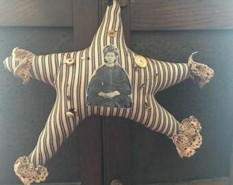 Primitive Star, Folk Art Star Anna ready to ship