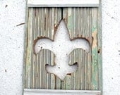 Wood Fleur de Lis, Reclaimed Wood Art, New Orleans Decor, Boho Wall Art, Salvaged Wood Decor, Rustic Wood Wall Decor,