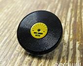 Vinyl Record LP Acrylic Lapel Pin