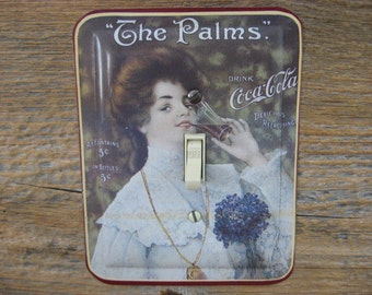 Coke Light Switch Covers Plate Switchplates Victorian Kitchen Coca Cola Decor Tin Lighting Old Fashioned Vintage Coke Tins SP-0251