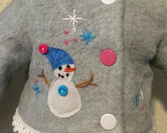 Fleece Snowman Jacket for 18 inch Dolls