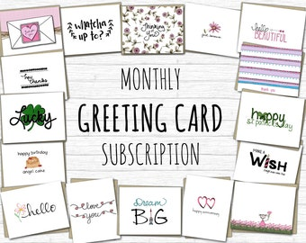 Greeting Card Subscription, Monthly Card Subscription, Greeting Cards, Monthly Greeting Card Subscription