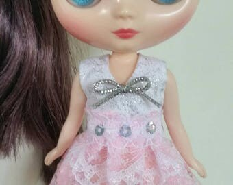 SALE Pink and Silver Party dress for Middie Blythe, Lati Yellow