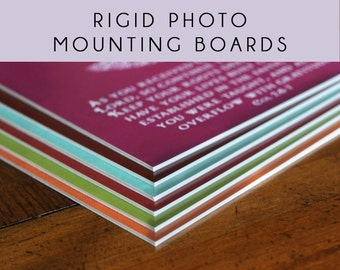 UPGRADE to a Rigid Photo Mounting Board - for any wall art print in my shop