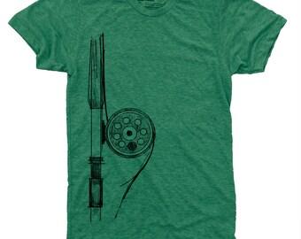 Fly Fishing Rod Men's Shirt, Fishing Gift, Gift for Men, Fishing Shirt, Fly Rod Reel, Montana, Colorado, Fly Fishing TShirt, Gift for Dad