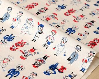 Japanese Fabric - working ojisan - 50cm