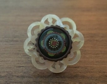 Blossom - Stacked Button Ring