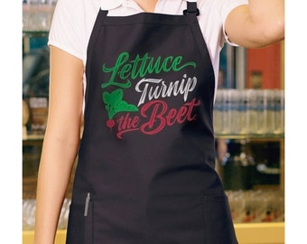 lettuce turnip the beet ® adult APRON trademark brand official site - kitchen - chef - garden - full length - adjustable neck - 2 pockets