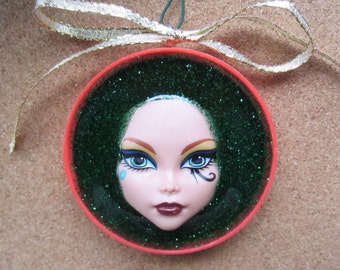 Monster High - upcycled doll ornament