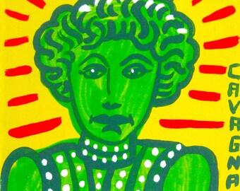 Elsie Leslie / original portrait / tongue twistingly named actress / painting 5178