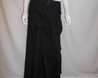 SALE 90s Club Kid Cyber Punk Black Skirt