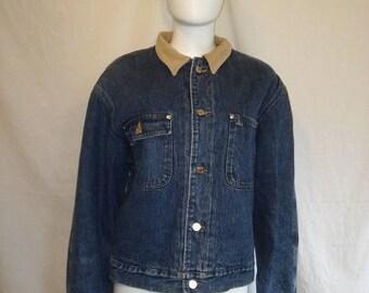 Closing Shop Sale 45% Off Ralph Lauren POLO Vintage Denim Wool Lined Chore Jean Jacket
