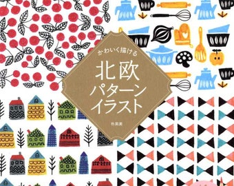 Scandinavian Designs Illustration Book - Japanese Craft Book