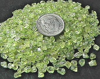 Gemstone Embellishment Peridot Mini UNDRILLED Chips 50g (1.75 oz)