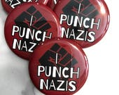 I Punch Nazis Pin Back Button