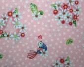 Birds, Hearts, Flowers, Sewing, Cotton Fabric, Quilting, Quilting Fabric, Sewing Fabric, Fabric, Red Rooster Fabrics, Rainbow Woodland