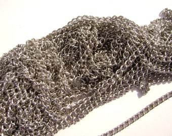 Chain Twisted Cable Antiqued Silver color 5 or 15 feet