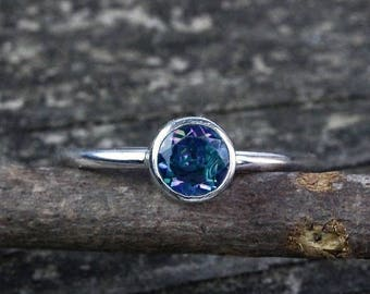 20% OFF Mothers Day Sale Rainbow topaz  sterling silver ring