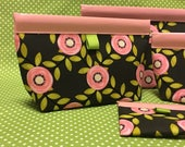Pink Blossom Snappy Pouch - 4 Sizes