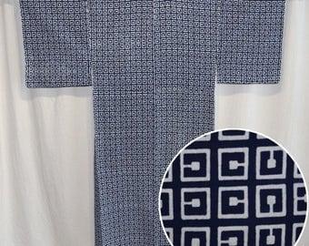 Vintage Japanese Yukata Kimono Man's Casual Robe Cotton - C is for Cookie