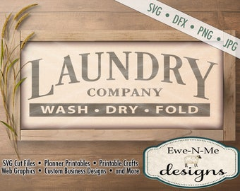 Laundry Room SVG - laundry company sign svg - Laundry cut file - laundry room stencil - Commercial Use svg cut file -  svg, dfx, png, jpg