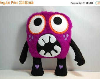 35% SALE Kix The plush Monster / Stuffed Toy