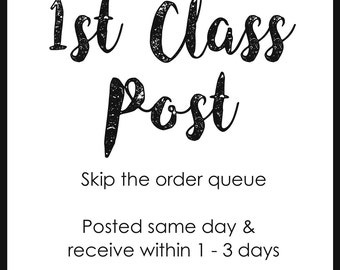 1st Class Postage Add-On