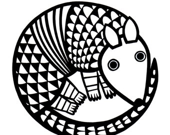 New A4 Armadillo Screen Print by Jane Foster  - signed limited edition