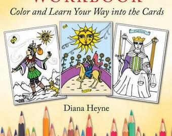 Tarot by Design Workbook by Diana Heyne signed copy, Tarot colouring books, colouring books