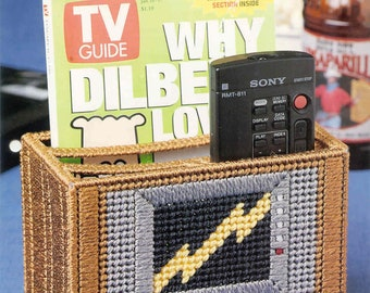 TV Buddy ~  plastic canvas pattern  ~  Needlecraft Shop ~  remote control holder pattern