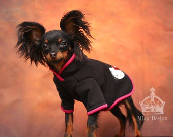 XS-S Dog hoodie / Hello Kitty dog hoodie / Dog hoodie / Small dog hoodie / Dog shirt