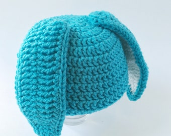 Child Blue Easter Bunny Hat Costume