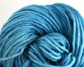 Brunswick Hand Dyed chunky weight 70/30 Corriedale wool Mohair blend yarn 140 yds 4oz Lapis