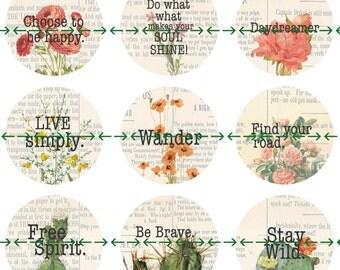 Boho Magnets, Boho Affirmations, Uplifting Quotes, Inspiring Sayings, Inspirational Words, Desert Flowers, Magnet Gift Set, Boho Party Favor
