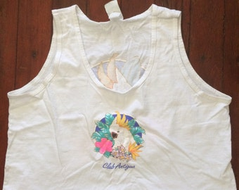 Amazing vintage 1980's crop top tank top womens size large/xlarge