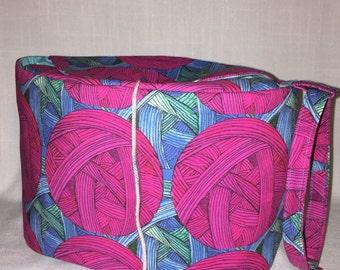 Oval Yarn Owl project bag