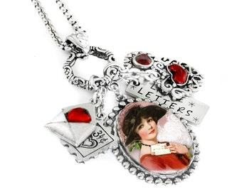 Silver Valentine Jewelry - Valentine Necklace - Love Jewelry - Love Necklace - Heart Necklace