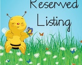 Reserved Listing for Marci