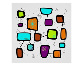 Contactual Art Print Modern Abstract in Custom Sizes & Colors