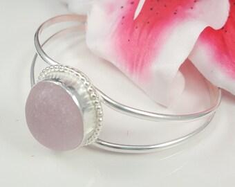 Sea Glass Jewelry Sea Glass Bracelet Pink English Sea Glass Bracelet Sea Glass Jewelry - B-247