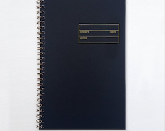 gold foil notebook - form