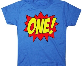 Kids SUPERHERO First Birthday T-shirt
