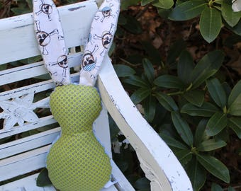 Green Dots and Pirate Bits The Bunny Plush Rattle