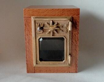 Red Maple Safe Vintage Bronze Brass Star USPS Door Post Office Retirement LockBox Bank Groomsman Wedding 5th 8th Anniversary Compass Box