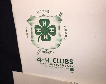 1950's First Day Issue 4-H Clubs Stamp